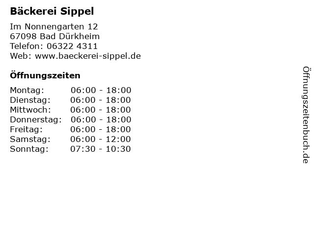Bäckerei Sippel in Bad Dürkheim: Adresse und Öffnungszeiten