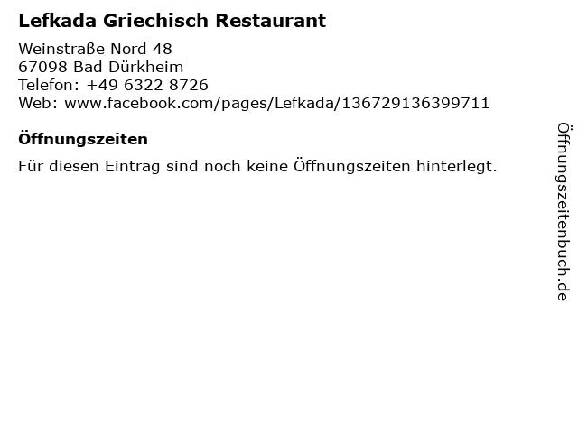 Lefkada Griechisch Restaurant in Bad Dürkheim: Adresse und Öffnungszeiten