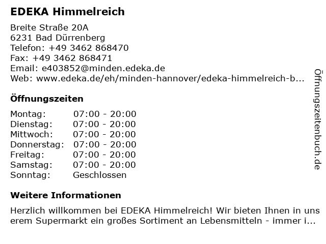 EDEKA Himmelreich in Bad Dürrenberg: Adresse und Öffnungszeiten