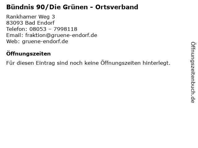 Bündnis 90/Die Grünen - Ortsverband in Bad Endorf: Adresse und Öffnungszeiten
