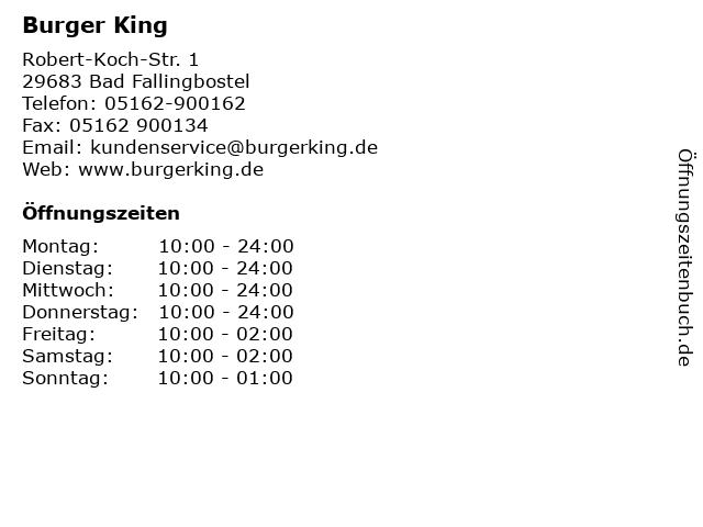 Burger King in Bad Fallingbostel: Adresse und Öffnungszeiten