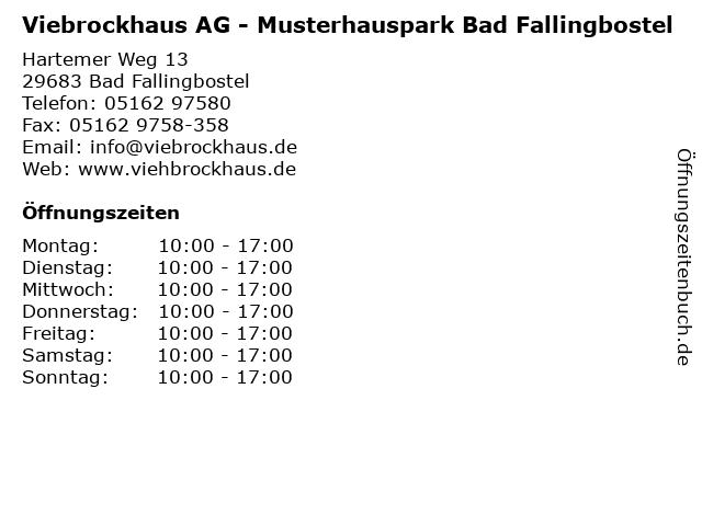 ᐅ öffnungszeiten Viebrockhaus Ag Musterhauspark Bad