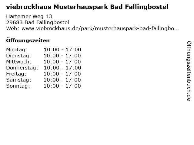 ᐅ öffnungszeiten Viebrockhaus Musterhauspark Bad Fallingbostel