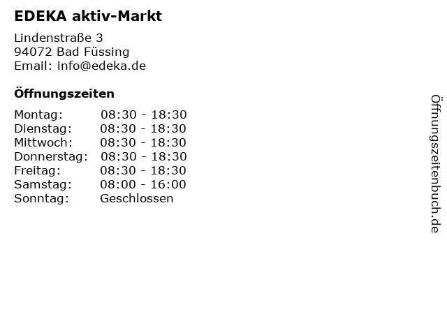 EDEKA aktiv-Markt in Bad Füssing: Adresse und Öffnungszeiten