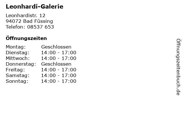 Leonhardi-Galerie in Bad Füssing: Adresse und Öffnungszeiten