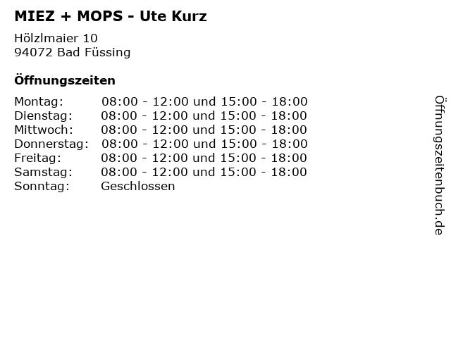 MIEZ + MOPS - Ute Kurz in Bad Füssing: Adresse und Öffnungszeiten