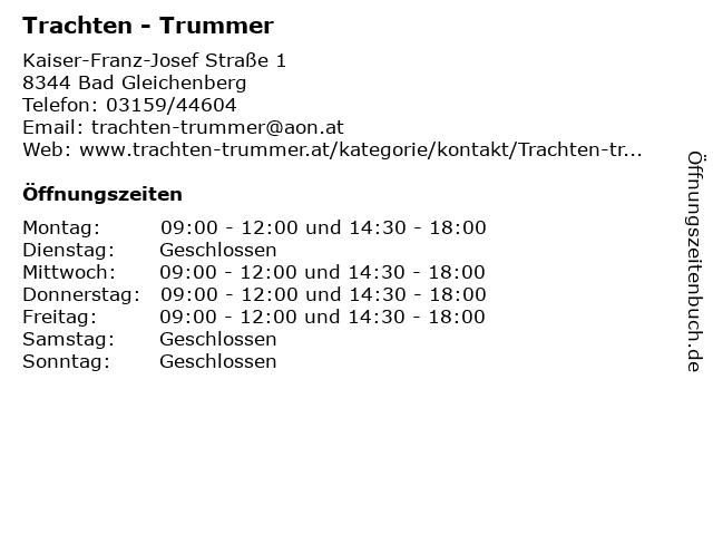 Trachten - Trummer in Bad Gleichenberg: Adresse und Öffnungszeiten