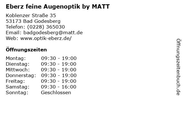 Eberz feine Augenoptik by MATT in Bad Godesberg: Adresse und Öffnungszeiten