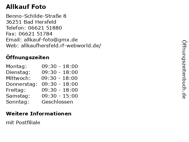 Allkauf Foto Bad Hersfeld - mit Postfiliale in Bad Hersfeld: Adresse und Öffnungszeiten