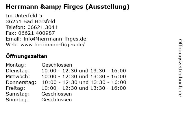 Herrmann & Firges (Ausstellung) in Bad Hersfeld: Adresse und Öffnungszeiten