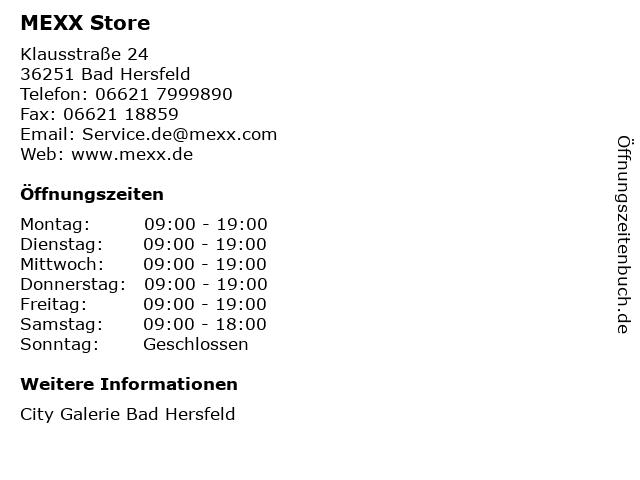 MEXX Store in Bad Hersfeld: Adresse und Öffnungszeiten
