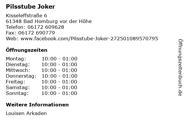 Pilsstube Joker in Bad Homburg vor der Höhe: Adresse und Öffnungszeiten