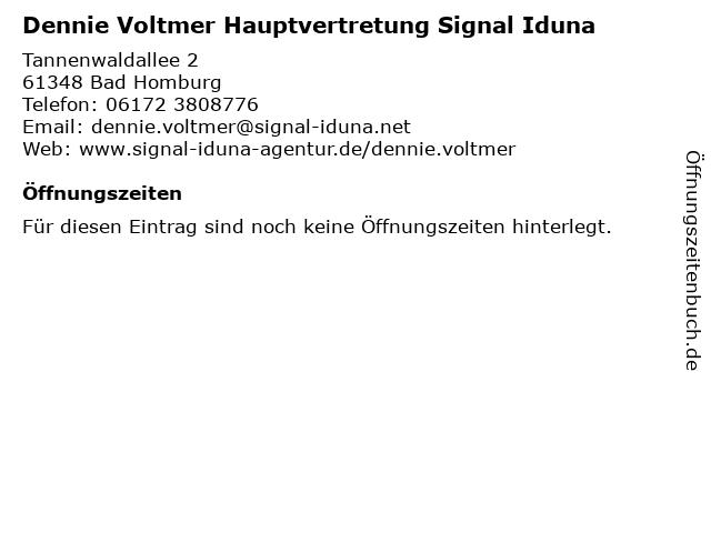 Dennie Voltmer Hauptvertretung Signal Iduna in Bad Homburg: Adresse und Öffnungszeiten