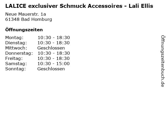 LALICE exclusiver Schmuck Accessoires - Lali Ellis in Bad Homburg: Adresse und Öffnungszeiten