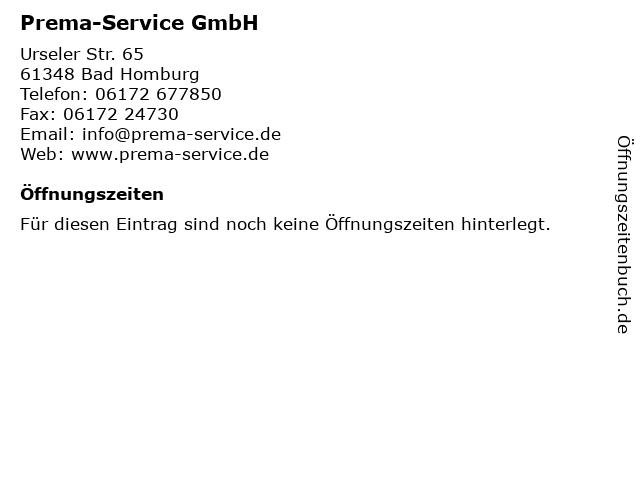 Prema-Service GmbH in Bad Homburg: Adresse und Öffnungszeiten