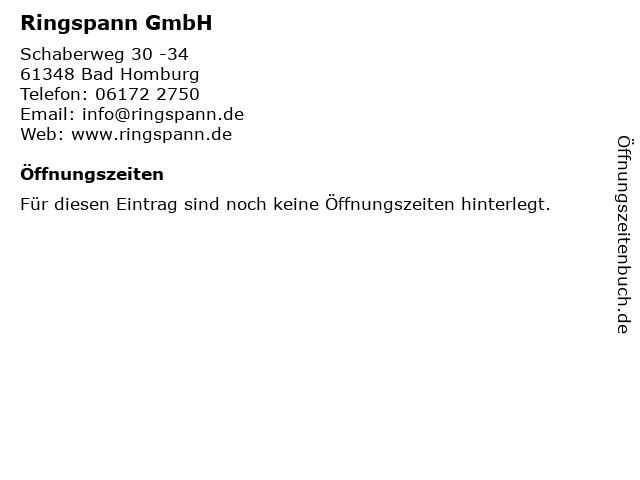 Ringspann GmbH in Bad Homburg: Adresse und Öffnungszeiten