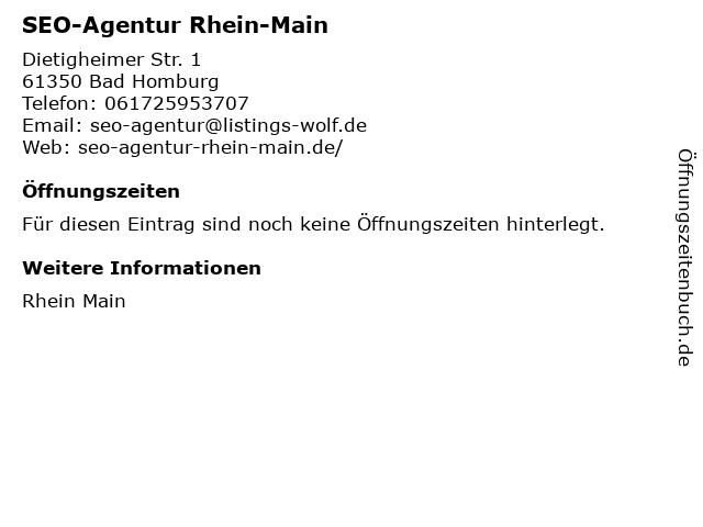 SEO-Agentur Rhein-Main in Bad Homburg: Adresse und Öffnungszeiten