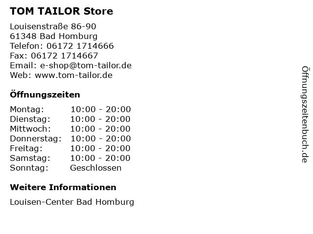 TOM TAILOR Store in Bad Homburg: Adresse und Öffnungszeiten