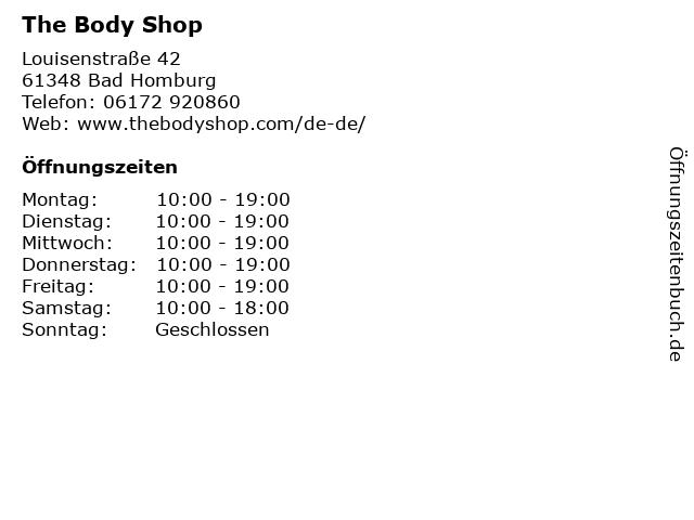 The Body Shop in Bad Homburg: Adresse und Öffnungszeiten