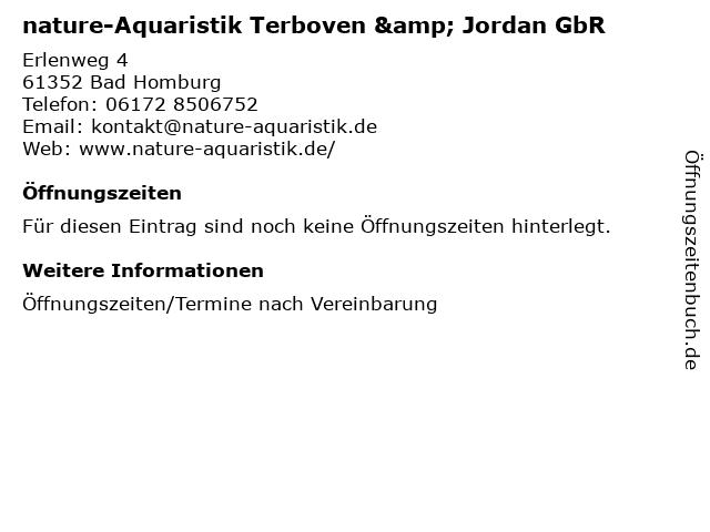 nature-Aquaristik Terboven & Jordan GbR in Bad Homburg: Adresse und Öffnungszeiten