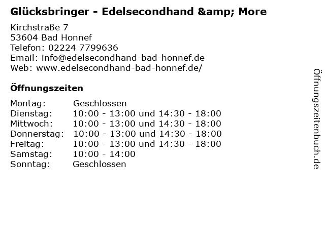 Glücksbringer - Edelsecondhand & More in Bad Honnef: Adresse und Öffnungszeiten