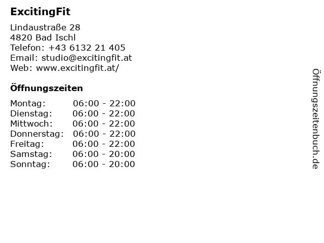 ExcitingFit in Bad Ischl: Adresse und Öffnungszeiten