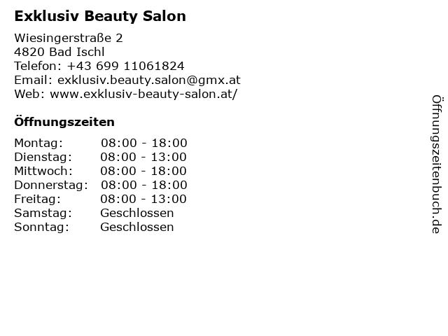 Exklusiv Beauty Salon in Bad Ischl: Adresse und Öffnungszeiten