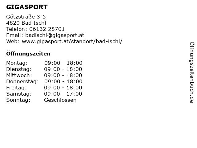 GIGASPORT in Bad Ischl: Adresse und Öffnungszeiten