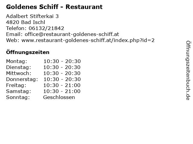 Goldenes Schiff - Restaurant in Bad Ischl: Adresse und Öffnungszeiten