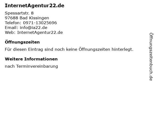 InternetAgentur22.de in Bad Kissingen: Adresse und Öffnungszeiten