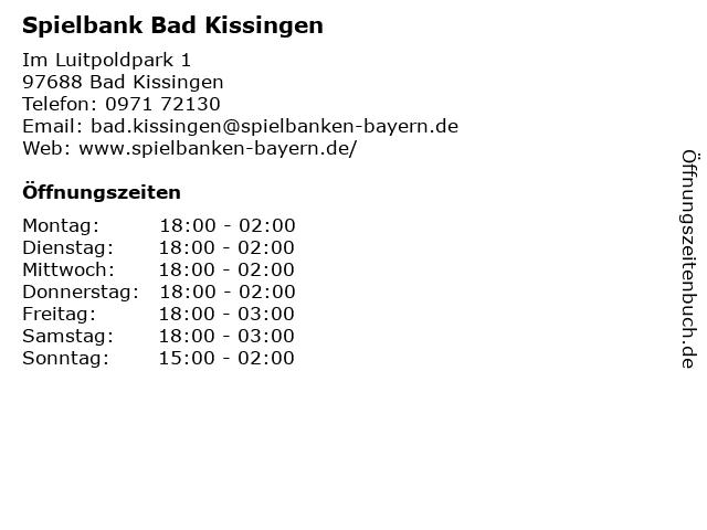 Spielbank Bad Kissingen öffnungszeiten