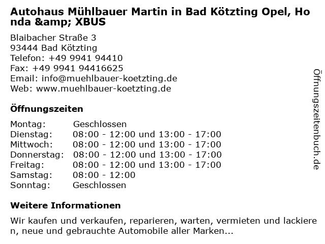 Autohaus Mühlbauer Bad Kötzting
