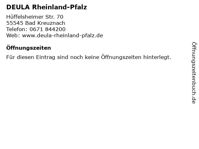 DEULA Rheinland-Pfalz in Bad Kreuznach: Adresse und Öffnungszeiten