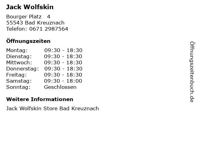 Jack Wolfskin in Bad Kreuznach: Adresse und Öffnungszeiten