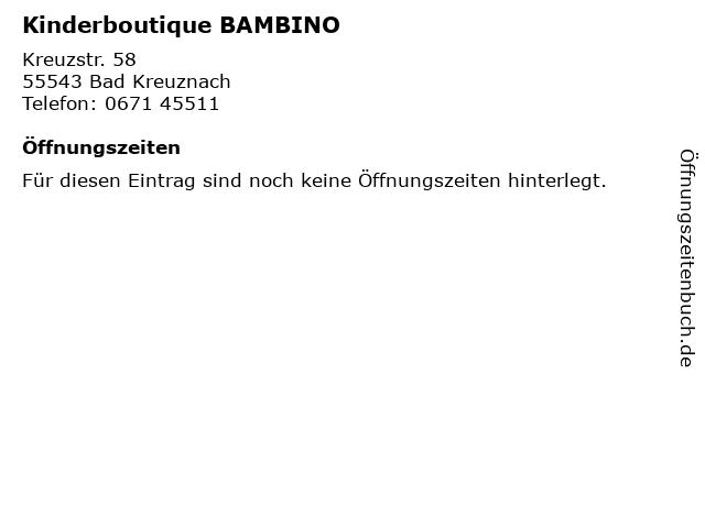 Kinderboutique BAMBINO in Bad Kreuznach: Adresse und Öffnungszeiten