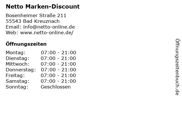 Netto Marken-Discount in Bad Kreuznach: Adresse und Öffnungszeiten