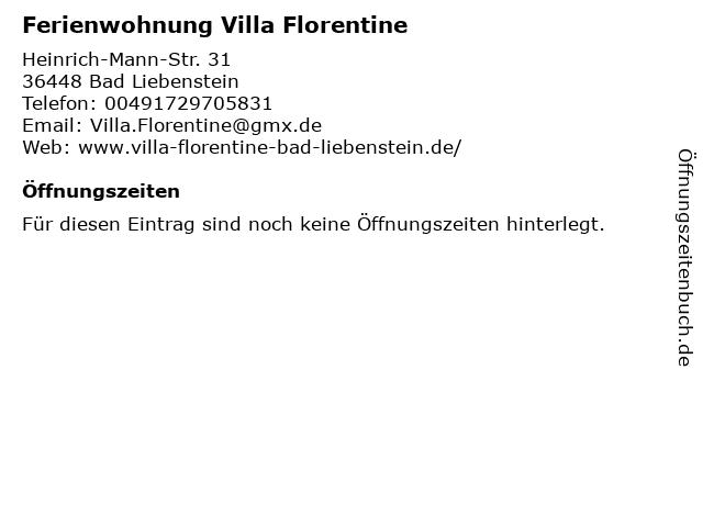 Ferienwohnung Villa Florentine in Bad Liebenstein: Adresse und Öffnungszeiten