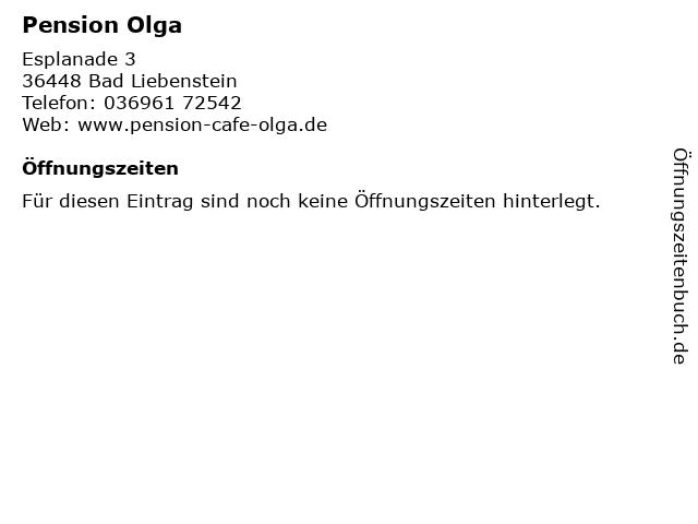 Pension Olga in Bad Liebenstein: Adresse und Öffnungszeiten