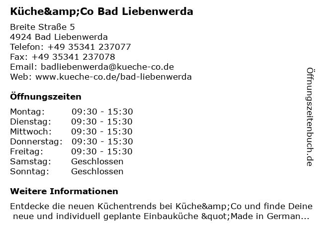Küche&Co Bad Liebenwerda in Bad Liebenwerda: Adresse und Öffnungszeiten