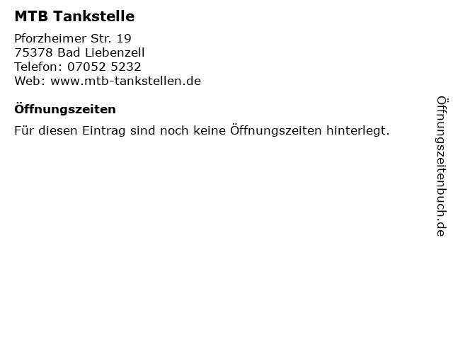 MTB Tankstelle in Bad Liebenzell: Adresse und Öffnungszeiten