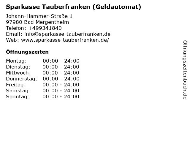 Sparkasse Tauberfranken - (Geldautomat Einkaufszentrum Bad Mergentheim) in Bad Mergentheim: Adresse und Öffnungszeiten