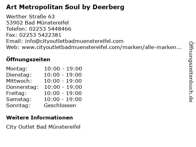 Art Metropolitan Soul by Deerberg in Bad Münstereifel: Adresse und Öffnungszeiten