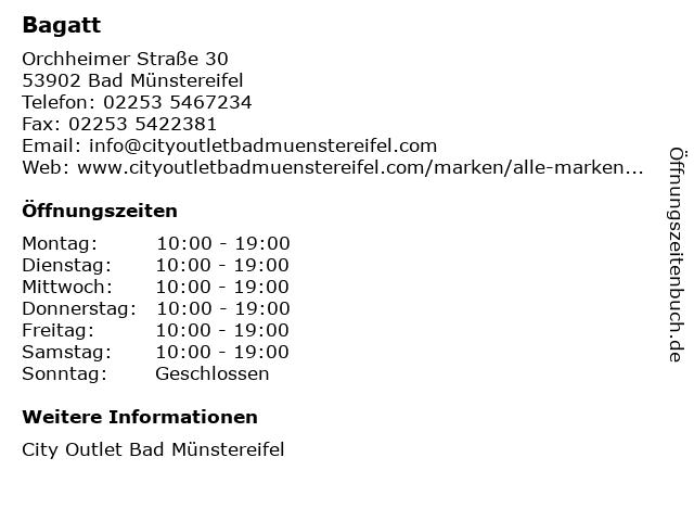 Bagatt in Bad Münstereifel: Adresse und Öffnungszeiten