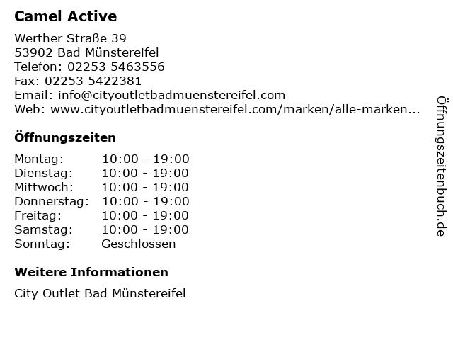 Camel Active in Bad Münstereifel: Adresse und Öffnungszeiten