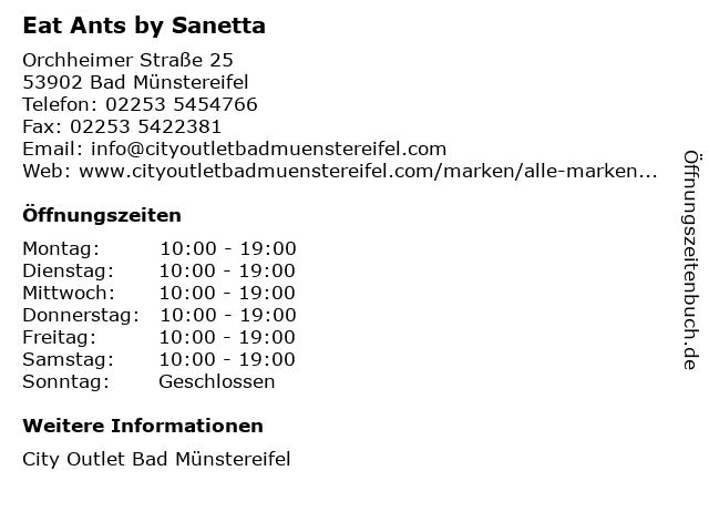 Eat Ants by Sanetta in Bad Münstereifel: Adresse und Öffnungszeiten