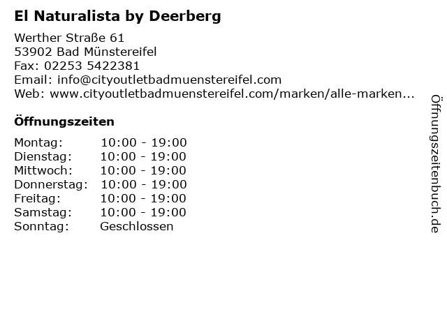 El Naturalista by Deerberg in Bad Münstereifel: Adresse und Öffnungszeiten