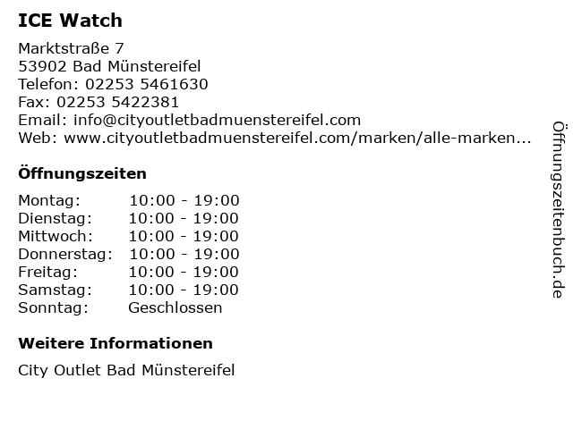 ICE Watch in Bad Münstereifel: Adresse und Öffnungszeiten