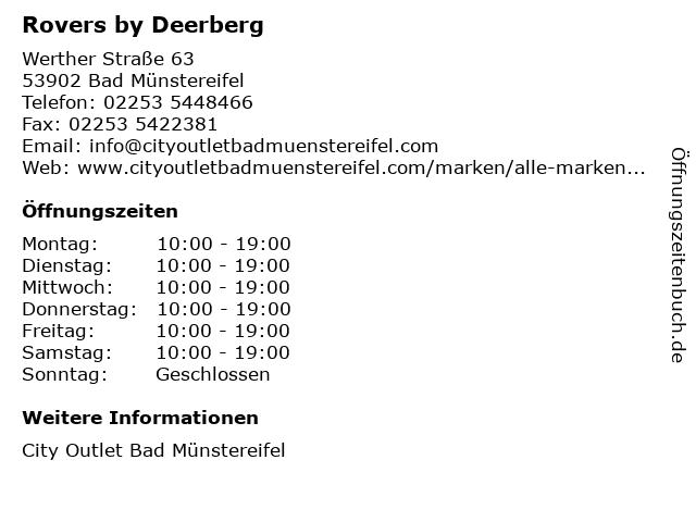 Rovers by Deerberg in Bad Münstereifel: Adresse und Öffnungszeiten