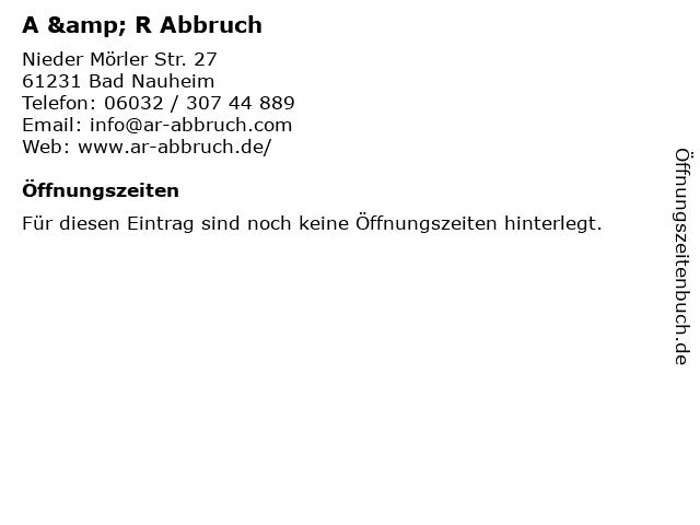 A & R Abbruch in Bad Nauheim: Adresse und Öffnungszeiten