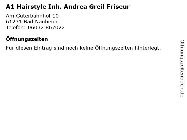 ᐅ Offnungszeiten A1 Hairstyle Inh Andrea Greil Friseur Am